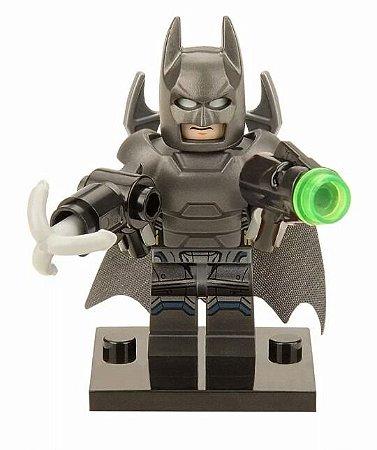Boneco Batman com Armadura Figura Compatível Lego DC Comics