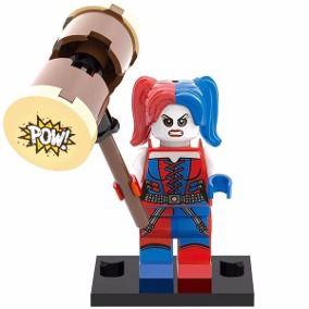 Boneco Arlequina Compatível Lego DC Comics
