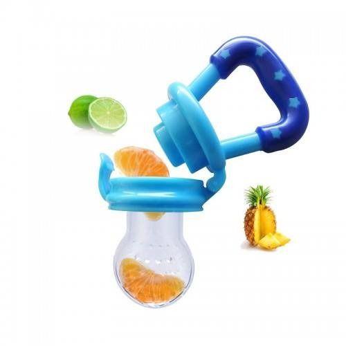 Chupeta Alimentadora Azul Bico Silicone