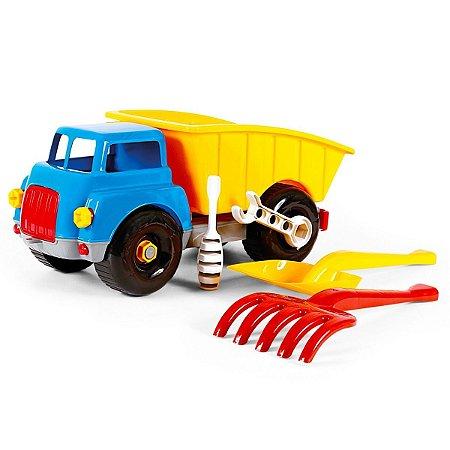 Caminhão Areia Caçambão Didático Brinquedos