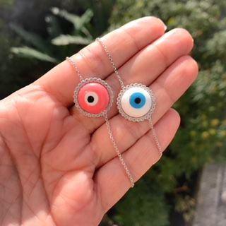 73fe88d9a5a Pulseira Olho Grego Branco Cravejado Prata 925 - Le Amici