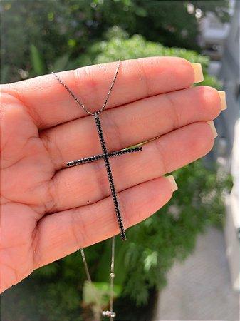 Colar Crucifixo Negro