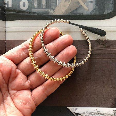 New! Pulseira Bolinha Rodio • prata 925