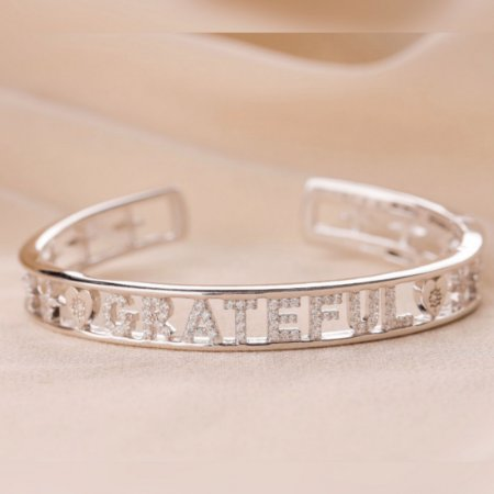 Bracelete Grateful Prata 925