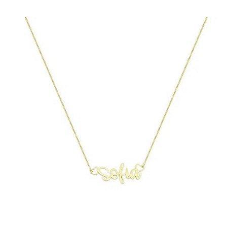 Colar Infantil Nome Gold • Prata 925
