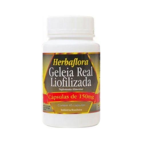 Geleia Real Liofilizada HERBAFLORA 150mg 45 Cápsulas