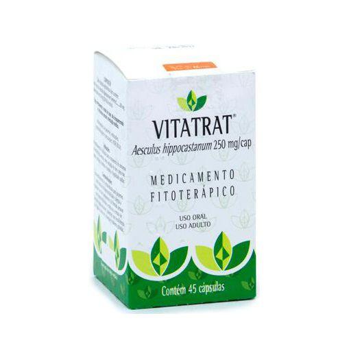 Vitatrat Extrato Seco de Castanha da Índia (Aesculus hippocastanum) VITALAB 250mg 45 Cápsulas
