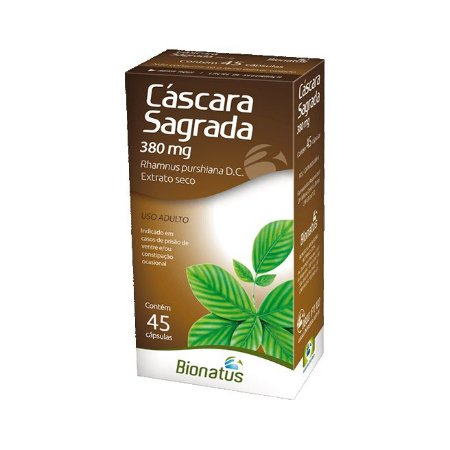 Cáscara Sagrada (Rhamnus purshiana) BIONATUS 380mg 45 Cápsulas
