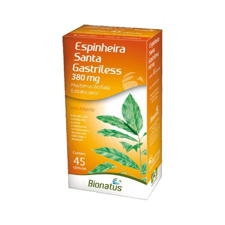 Espinheira Santa (Maytenus ilicifolia) BIONATUS 380mg 45 Cápsulas