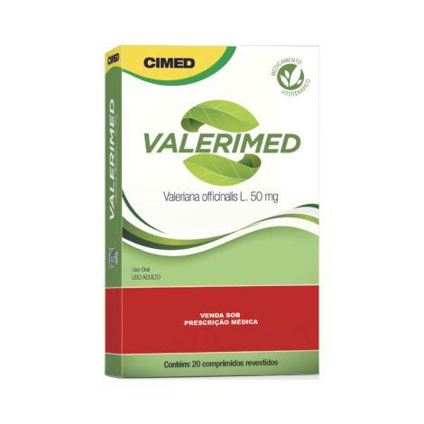 Valerimed (Valeriana officinalis) CIMED 50mg 20 Comprimidos