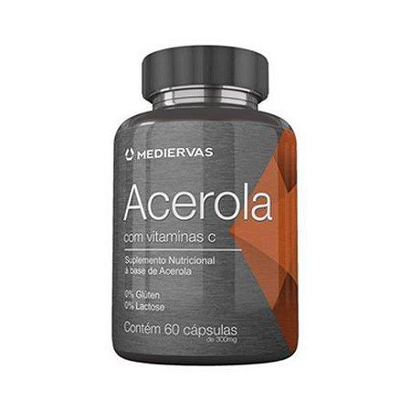 Acerola com Vitamina C MEDIERVAS 300mg 60 Cápsulas