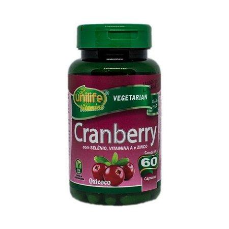 Cranberry + Selênio + Vitamina A + Zinco UNILIFE 500mg 60 Cápsulas Vegetais