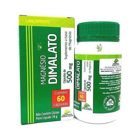 Magnésio Dimalato LABORATÓRIO DA MEDICINA NATURAL MEDINAL 500mg 60 Cápsulas