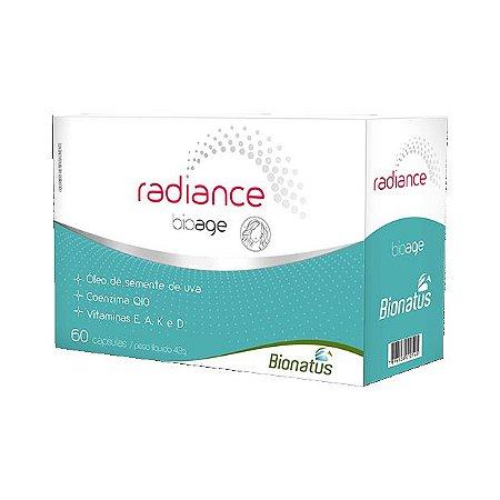 Radiance Bioage (Q10 + Semente de Uva + A + E + K + D) BIONATUS 60 Cápsulas