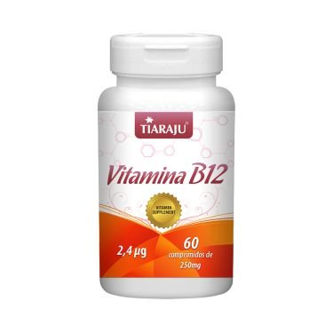 Vitamina B12 (Cobalamina) TIARAJU 2,4mcg 60 Comprimidos