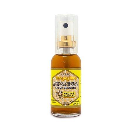Spray Composto de Mel Própolis NÉCTAR FLORAL Sabor Gengibre 35ml