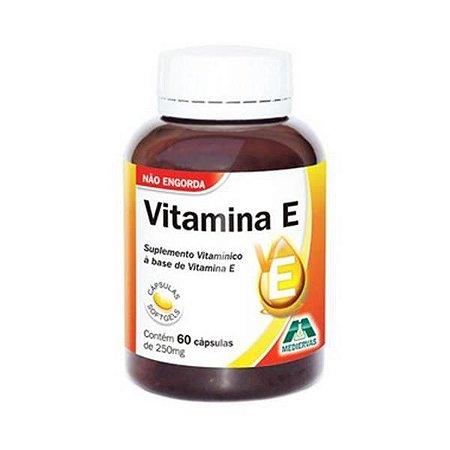 Vitamina E MEDIERVAS 250mg 60 Cápsulas
