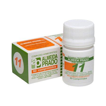 Complexo Homeopático Nº 11 ALMEIDA PRADO (Fígado) 60 Comprimidos