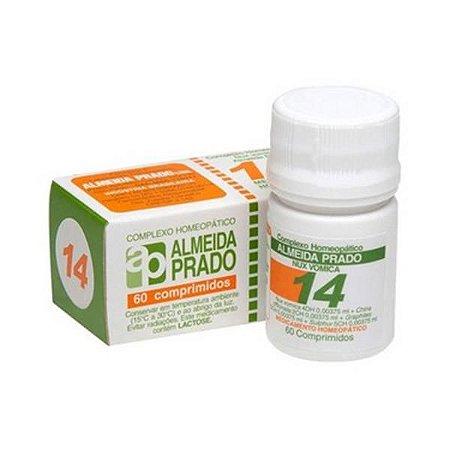 Complexo Homeopático Nº 14 ALMEIDA PRADO (Dispepsia) 60 Comprimidos