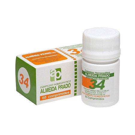 Complexo Homeopático Nº 34 ALMEIDA PRADO 60 Comprimidos