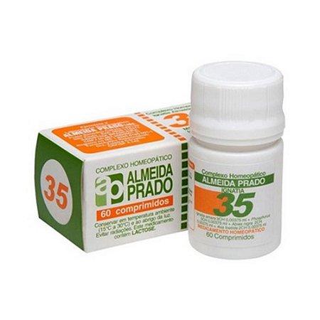 Complexo Homeopático Nº 35 ALMEIDA PRADO (Nervosismo) 60 Comprimidos
