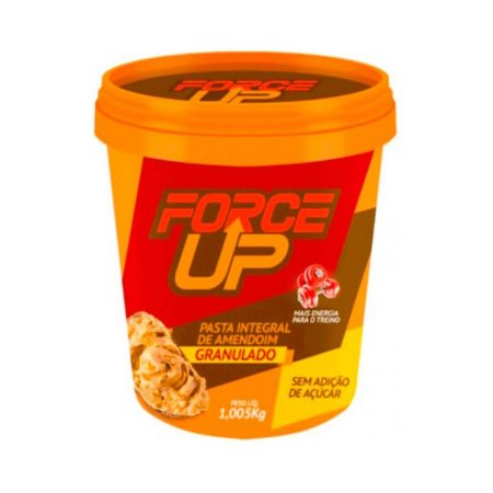 Pasta de Amendoim Granulada FORCE UP Sem Açúcar 1,005 Kg