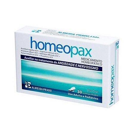 Homeopax Complexo Homeopático ALMEIDA PRADO (Nervosismo e Ansiedade) 30 Comprimidos