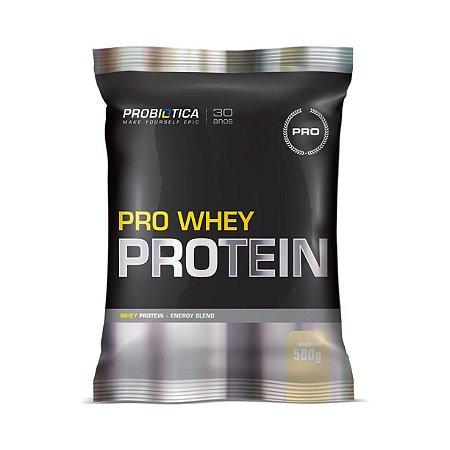 Pro Whey Protein PROBIÓTICA Sabor Baunilha Sachê 500g