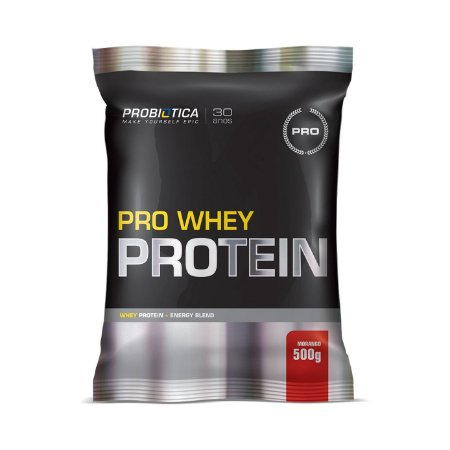 Pro Whey Protein PROBIÓTICA Sabor Morango Sachê 500g