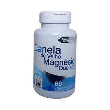 Canela de Velho + Magnésio Quelato 4 ELEMENTOS 500mg 60 Cápsulas