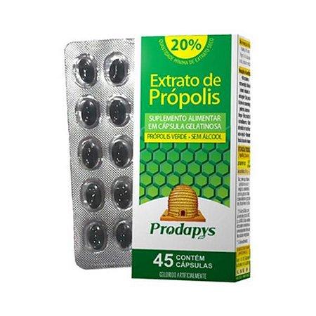 Própolis Verde PRODAPYS Sem Álcool (Extrato Seco Mínimo 20%) 45 Cápsulas