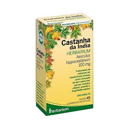 Extrato Seco de Castanha da Índia (Aesculus hippocastanum) HERBARIUM 100mg 45 Comprimidos