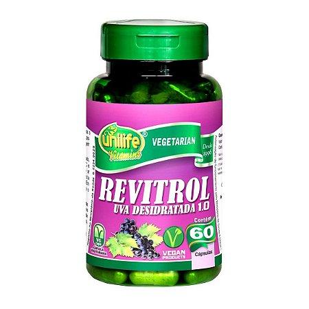 Revitrol Uva Desidratada Resveratrol UNILIFE 500mg 60 Cápsulas Vegetais
