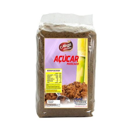 ACUCAR MASCAVO 500G MEGA ALIMENTOS