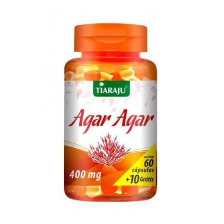 Agar Agar (Gelatina Vegetal) TIARAJU 400mg 60 + 10 Cápsulas