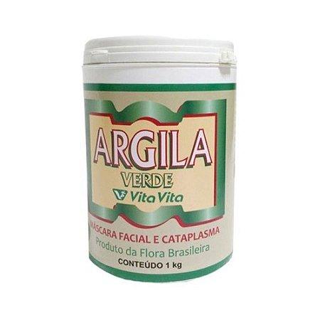 Argila Verde (Máscara Facial e Cataplasma) VITA VITA 1kg