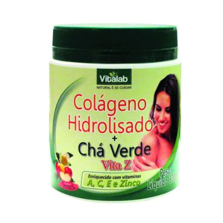 COLAGENO HDROLISADO+CHA VERDE 300G VITALAB