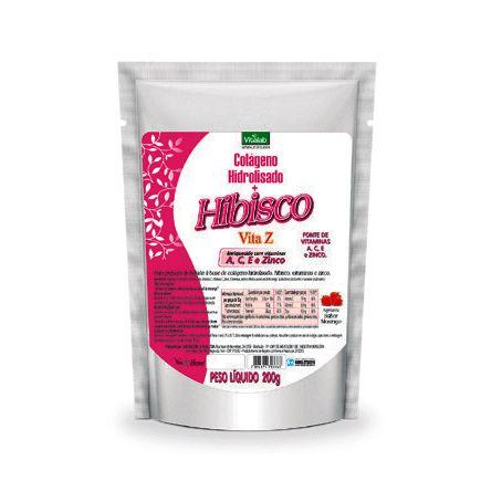 COLAGENO HIDROL+HIBISCO SABOR MORANGO 200G VITALAB