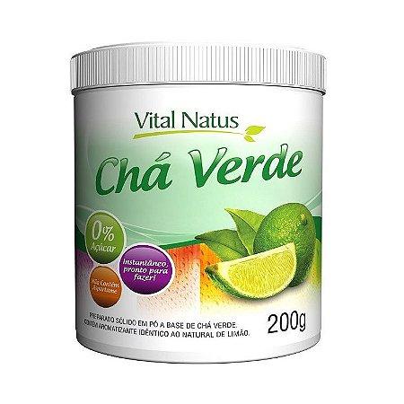 Chá Verde Solúvel VITAL NATUS Sabor Limão 200g