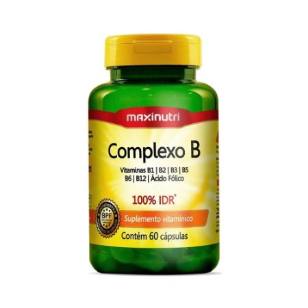 Complexo B (B1, B2, B3, B5, B6, B9 e B12) MAXINUTRI 60 Cápsulas