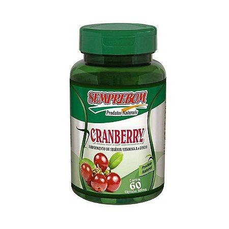 Cranberry + Selênio + Vitamina A + Zinco SEMPREBOM 500mg 60 Cápsulas