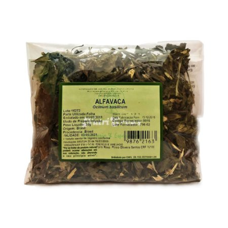 Alfavaca (Ocimum basilicum) Folha NUTRI ERVAS 30g