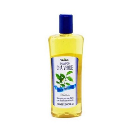 Shampoo Chá Verde Sem Sal e Sem Corantes Vitalab (Vita Plankta) Uso Diário 300ml