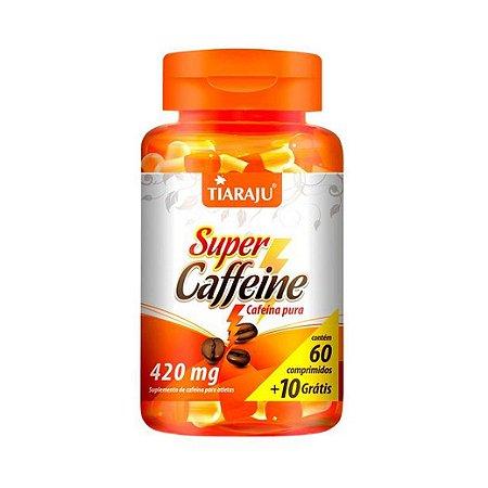 Super Caffeine (Cafeína) TIARAJU 420mg 60 + 10 Comprimidos