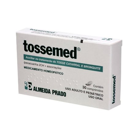 Tossemed Complexo Homeopático ALMEIDA PRADO (Tosse Catarral e Bronquite) 30 Comprimidos