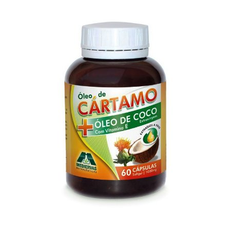 Óleo de Cártamo e Coco MEDIERVAS 1000mg 60 Cápsulas