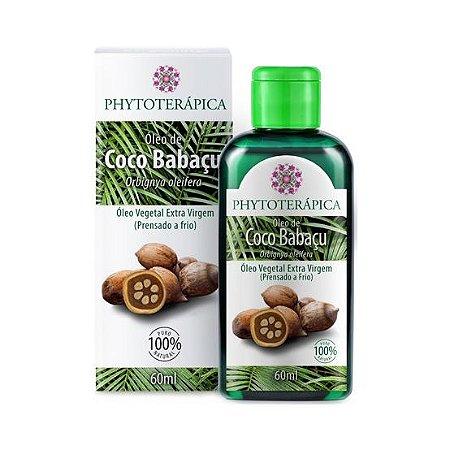 Óleo Vegetal de Coco Babaçu (Orbignya oleifera) Extra Virgem (Prensado a frio) PHYTOTERÁPICA 60ml