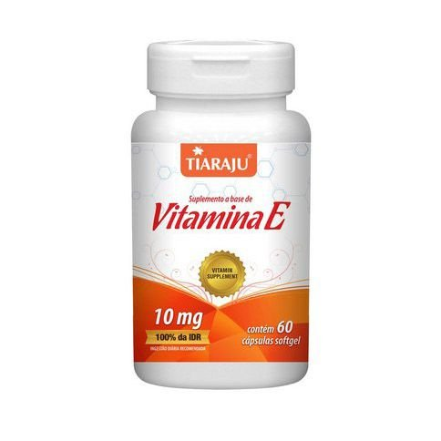Vitamina E (Tocoferol) TIARAJU 400ui 60 Cápsulas