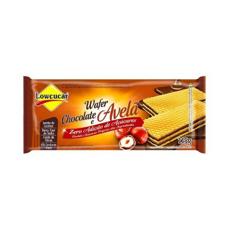 WAFER CHOCOLATE/AVELA LOWCUCAR 115G