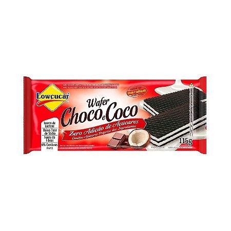 WAFER CHOCO E COCO LOWCUCAR 115G
